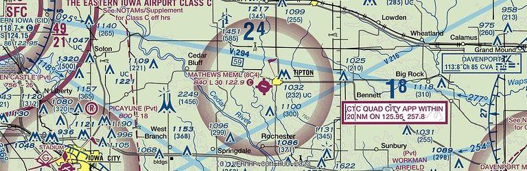 Sectional Image of Mathews Memorial Airport   (8C4 airport)