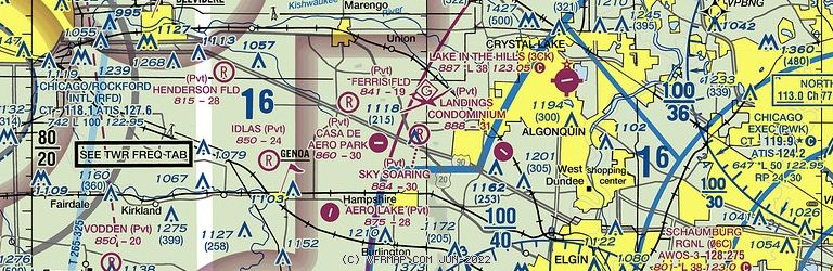Sectional Image of Sky Soaring Airport (55LL airport)