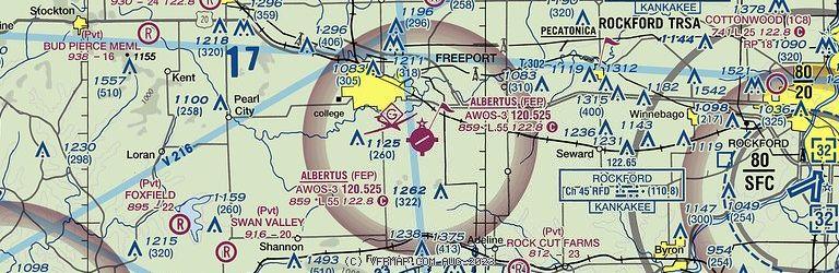Sectional Image of Albertus Airport   (KFEP airport)