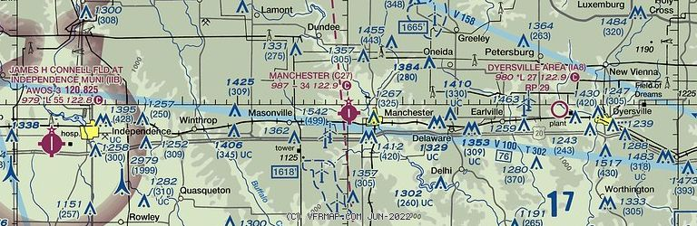 Sectional Image of Manchester Municipal Airport   (C27 airport)
