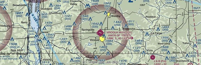 Sectional Image of Viroqua Municipal Airport   (Y51 airport)