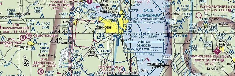 Sectional Image of Wittman Rgnl (KOSH airport)