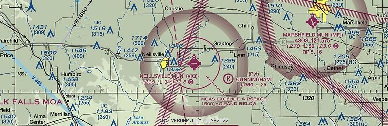 Sectional Image of Neillsville Muni (KVIQ airport)