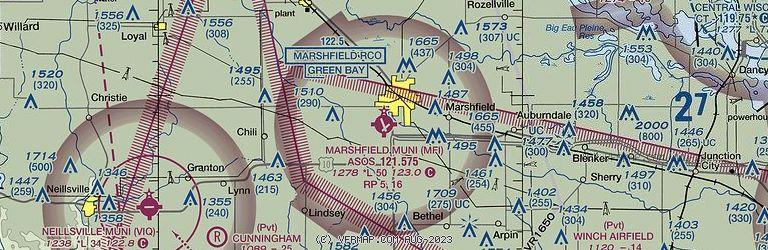 Sectional Image of Marshfield Muni (KMFI airport)