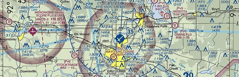 Sectional Image of Chippewa Valley Rgnl (KEAU airport)