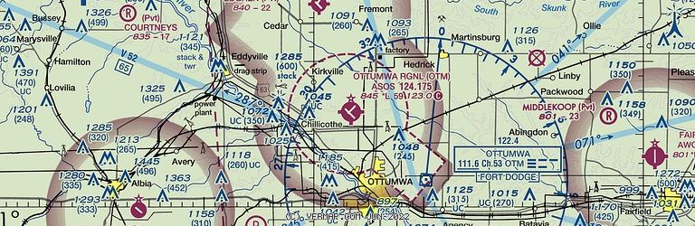 Sectional Image of Ottumwa Regional Airport   (KOTM airport)