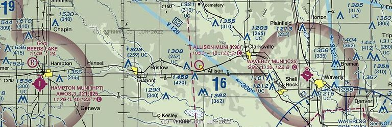 Sectional Image of Allison Municipal Airport   (K98 airport)