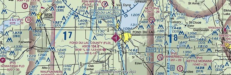 Sectional Image of Fond Du Lac County (KFLD airport)