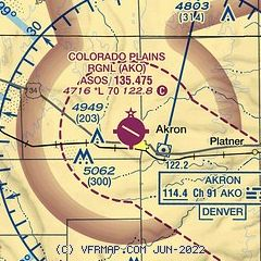 Akron Colorado Map.Airnav Kako Colorado Plains Regional Airport